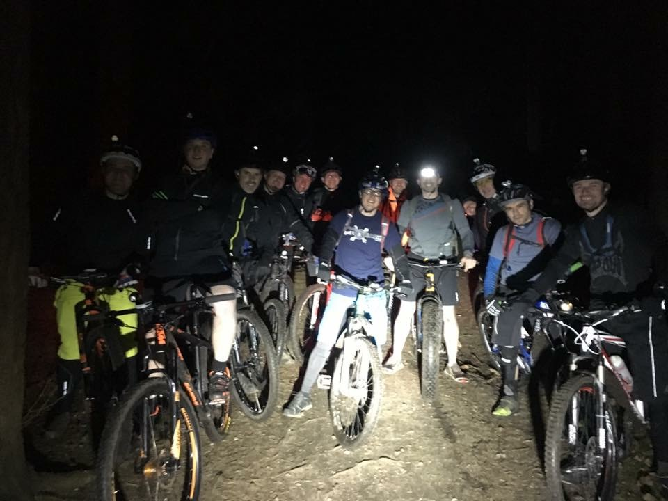 Just one of our weekly rides extending into the night